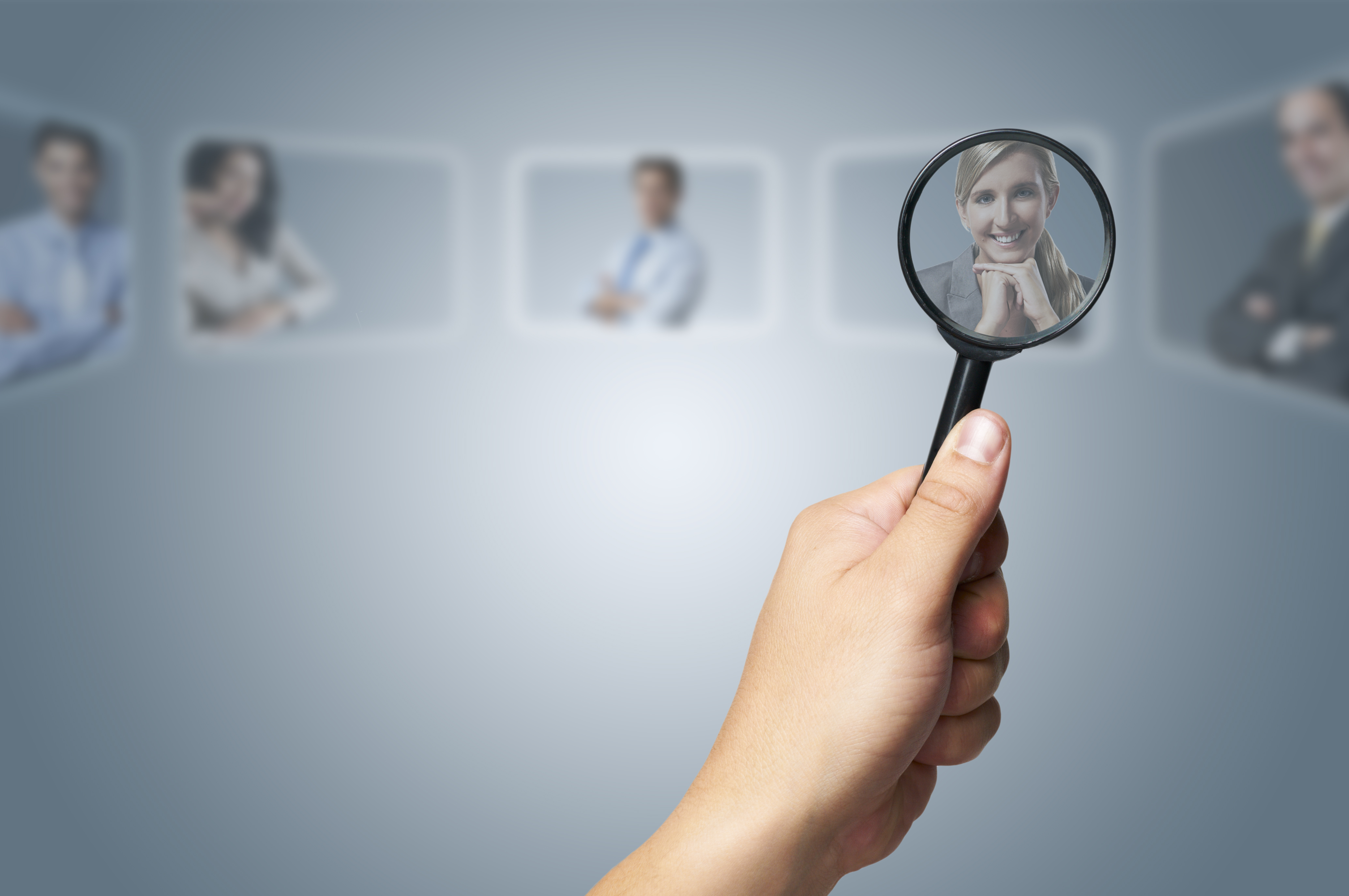 Human Resources concept choosing the perfect candidate